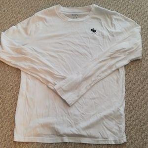 Abercrombie kids boys long sleeve white shirt